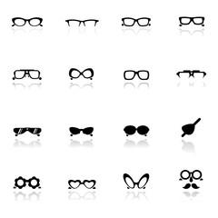 Icon set  Eye glasses