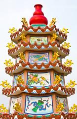bottle gourd on shrine of a dead five person