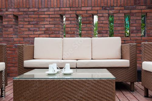 Leinwanddruck Bild Outdoor furniture