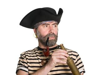 Pirate keeps a telescope