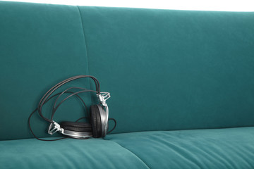 Headphones on Couch