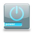 Button Spare Power grau blau