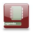 Button Spare Agenda rot grau