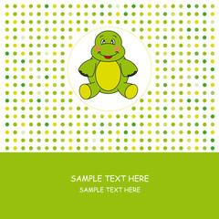 Tarjeta postal de una tortuga