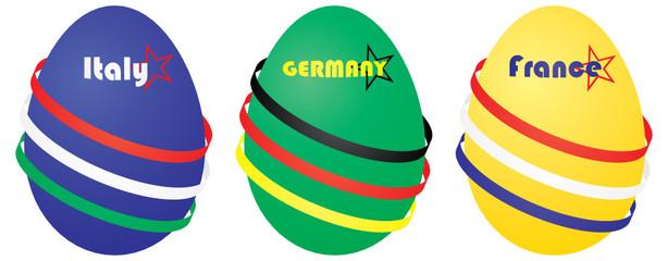 Пасхальные яйца для стран