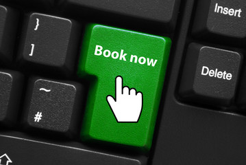 BOOK NOW Key on Keyboard (order online e-booking go  web button)