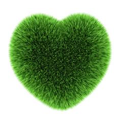 3d Heart of grass
