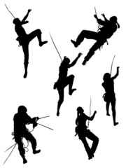 A selection of images of rock climbers