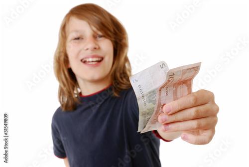 Junge mit Euro