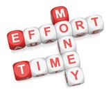 Time Effort Money poster