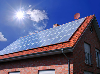 Photovoltaikanlage auf dem Dach