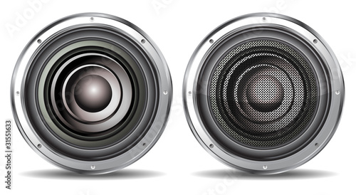 quality speaker isolated on white