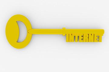 Key with INTERNET word