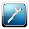 "Glossy Square Icon ""Mechanic"""