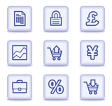 E-business web icons, light violet glossy buttons