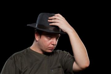 Man in a grey hat
