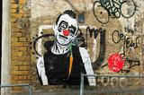 Fototapete Mohnblüte - Red nose - Graffiti