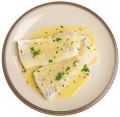 Baked Haddock Fish Fillets in Sauce