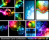 Fototapety Abstract Business Card Collection: Flow of lights 2