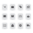 ice square shopping icons