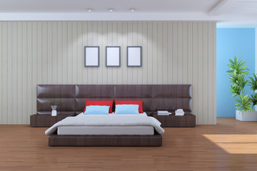 The 3d rendering indoor modern bedroom
