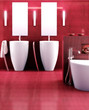 Badezimmer in rot II