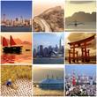 Collage voyage en Asie