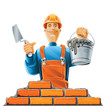 builder in helmet vector