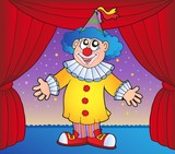 Clown on circus stage 1 poster