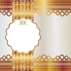 gold lace card