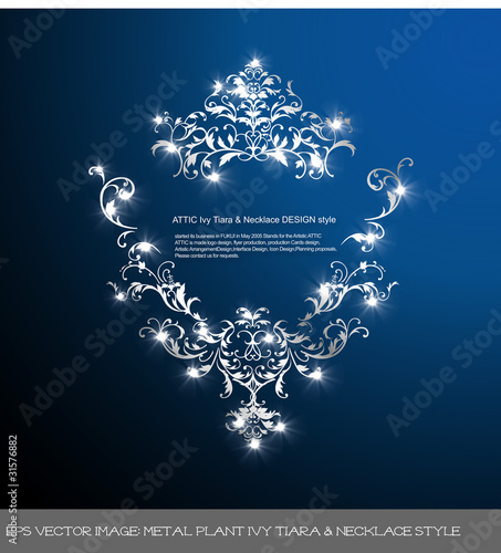 eps Vector image: metal plant Ivy Tiara & Necklace style