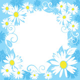 funny spring floral border.vector illustration