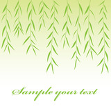green branch background. Vector illustration