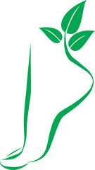 foot symbol. element for design