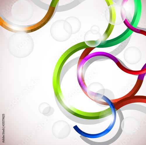 wektorowy-kolorowy-abstrakcjonistyczny-tlo-linie-krzywych-i-babelkow-de