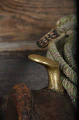 Antique Saddle With Rope