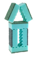 House made of green sponges