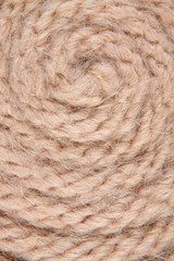 Background from the wool filaments of interlaced