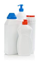 four kitchen bottles isolated