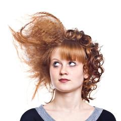 Strange hairdress
