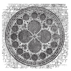 Dean's eye rose window in the North Transept of Lincoln Cathedra