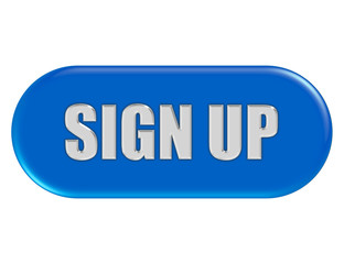 Button blau Seiten rund SIGN UP