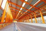Orange tunnel at daytime in Hong Kong poster