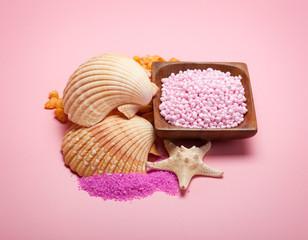 Sea minerals - bath salt and shells