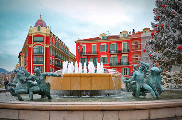 Plaza Massena square in Nice, France