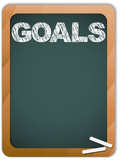 Blackboard with Goals Message written with Chalk