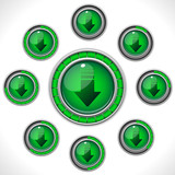 Download Shiny Green Button with Bars