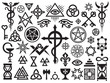 Medieval Occult Signs And Magic Stamps, Locks, Knots