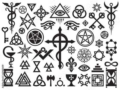 Medieval Occult Signs And Magic Stamps, Locks, Knots (with Additions) - 31605619