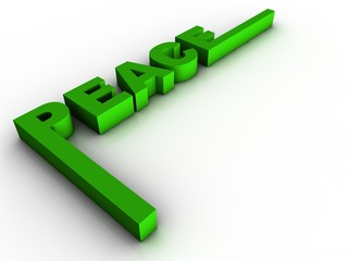 3d green peace text